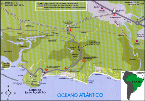 GRANITO DO CABO DE SANTO AGOSTINHO PERNAMBUCO BRASIL - Cabo de santo agostinho map